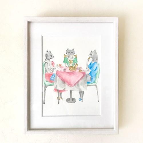 original art 『ねこ婦人のパンパーティ』