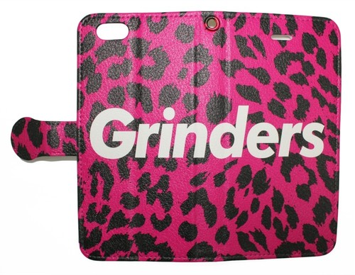 GRINDERS iPhone case notebook type (Tropical pink)
