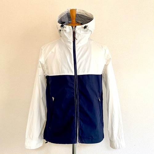 Typewriter Moutain Parka White×Navy