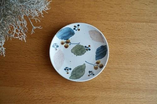 砥部焼/5寸皿/木の葉/森陶房