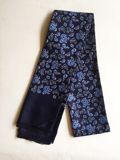UK import Warrior スカーフ/Paisley Navy