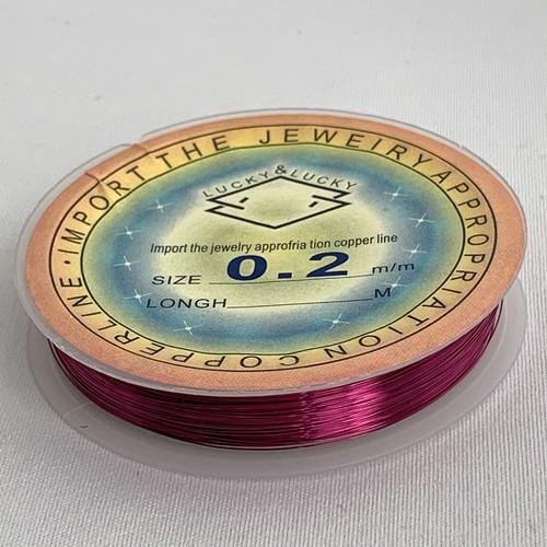 銅製ワイヤー パープル  0.2mm /1ロール35m