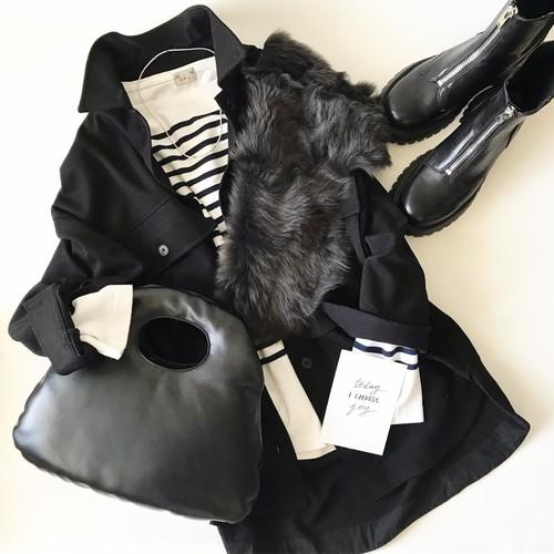Pucu-Pucu Bag / black / beige / white