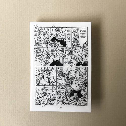 漫画原稿『タケオの世界』編ピンバッチ・p57