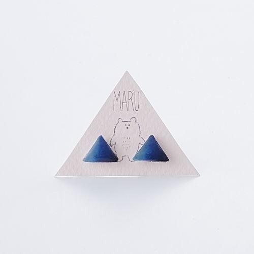 デルタピアス blue gradation モダンデザイン MARTTA ハンドメイド