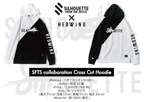 SFTS x HEDWiNG Collaboration Cross Cut Hoodie