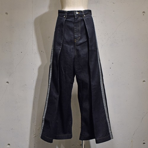 -niitu- / Side Line Denim Pants / Indigo
