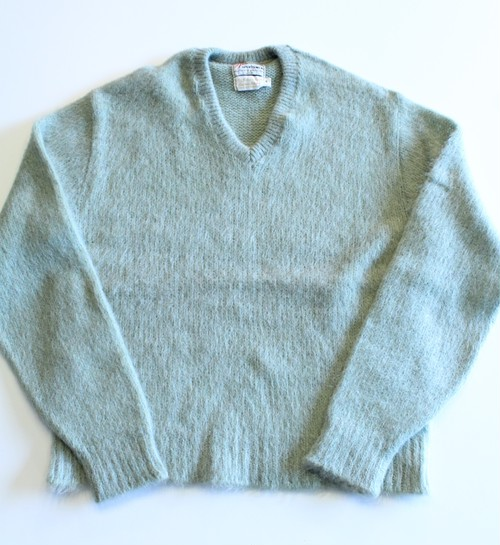 Vintage 1960's Mohair V-neck Sweater