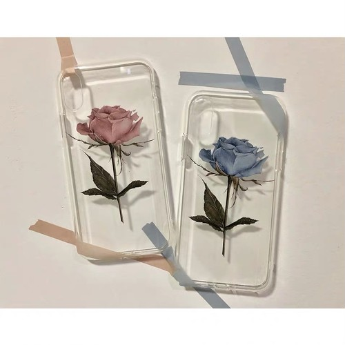 【お取り寄せ】ローズ iPhoneケース 2色