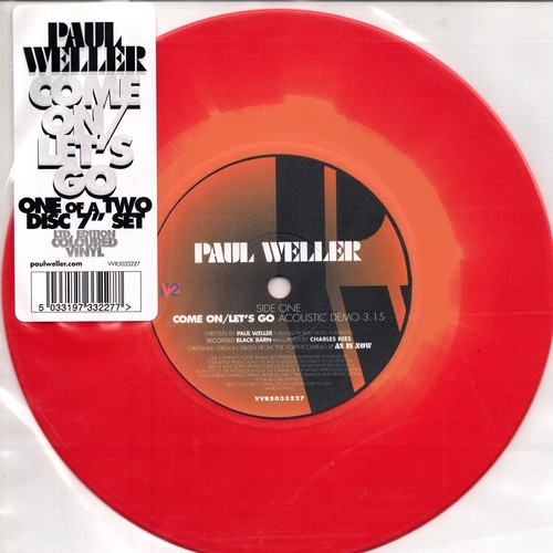 【7inch・欧州盤】Paul Weller /  Come On/Let's Go