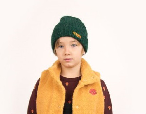 """TINYCOTTONS タイニーコットンズ """"TINY"""" BEANIE color:dark green size:kid-one size (50-55cm)"""