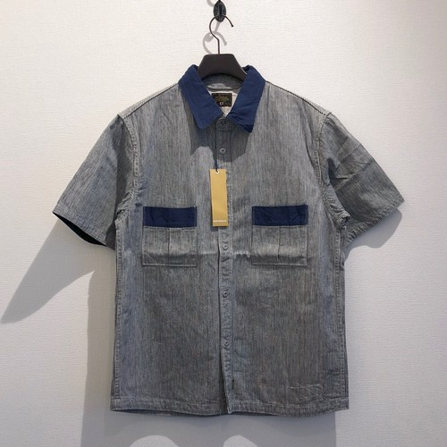 OILMAN SHIRTS (HICKORY×DARK BLUE) / GERUGA