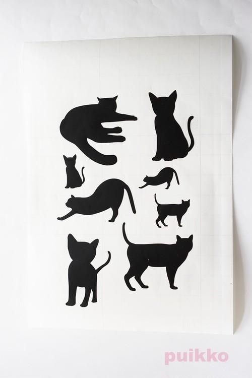 ステッカー 猫のシルエット1