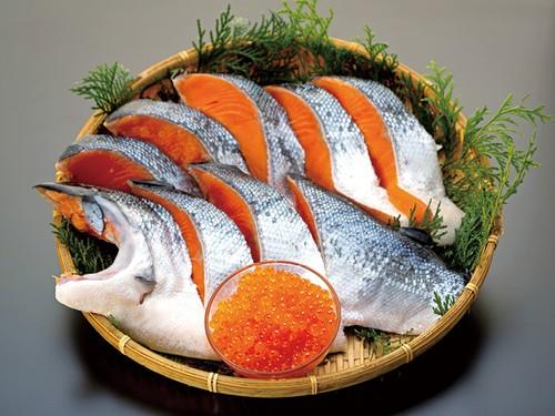 熟成銀鮭半身といくらの親子大盛りセット(0015)