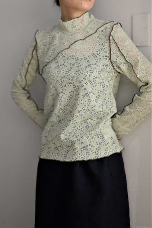 MURRAL / strech lace top
