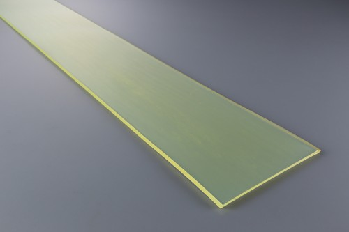 ウレタンゴム A90  1.5t (厚)x 1000mm(幅) x 2000mm(長さ)ポリエーテル系 クリアイエロー ※スクレーパー等