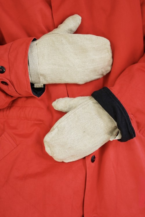 <SOLD OUT>Canvas Mittens Groves 1960's (dead stock) - Swiss Army