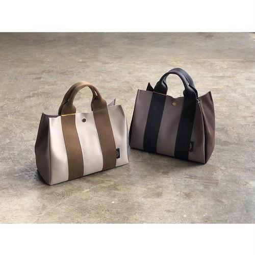 VIOLAd'ORO(ヴィオラドーロ) 『GINO』 Color Block Microfiber Suede 2Way Tote Bag