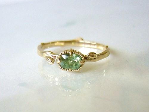 デマントイドガーネットとK14の指輪