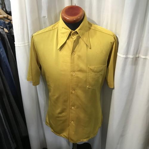 70's vintage Spise ポリエステルシャツ ポリシャツ ディスコシャツ メンズM