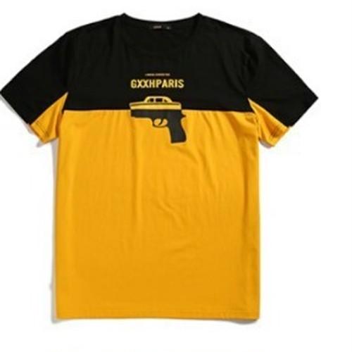 メンズバイカラー鉄砲&ロゴ後ろもかっこいいTシャツ