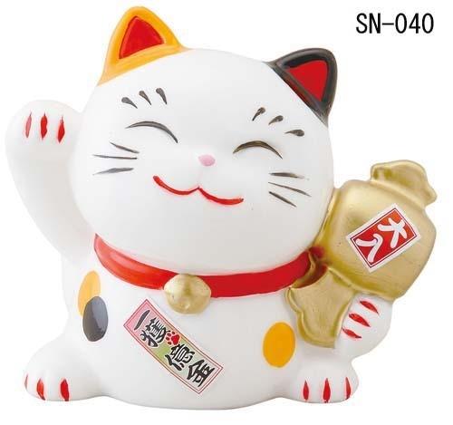 幸せ招き猫 みけ 宝くじ入れ(中)