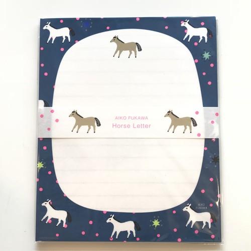 AIKO FUKAWA レターセット Horse Letter