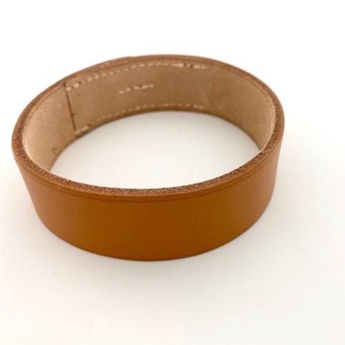 HERMES leather bangle/bracelet -POURTOUR-light brown DEADSTOCK