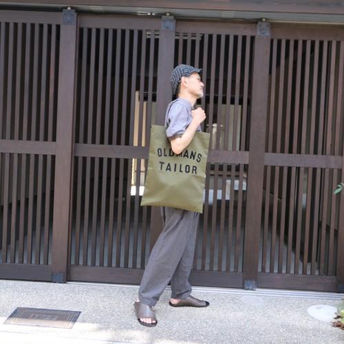 OLDMAN'S TAILOR OMT Print tote bag chino khaki #OMT-AW703