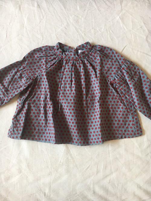 dot shirts col.1 ブルー×赤ドット Mサイズ Lサイズ