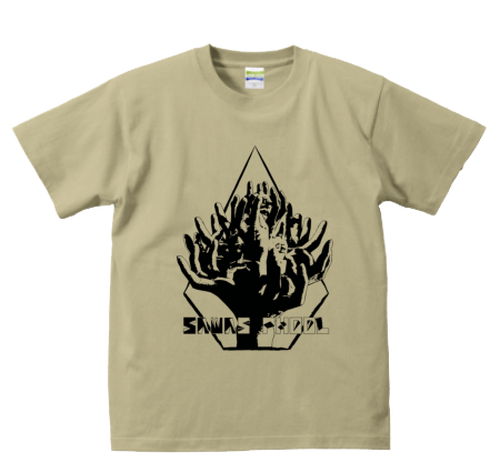 Hand-Flower (T-shirt) - khaki