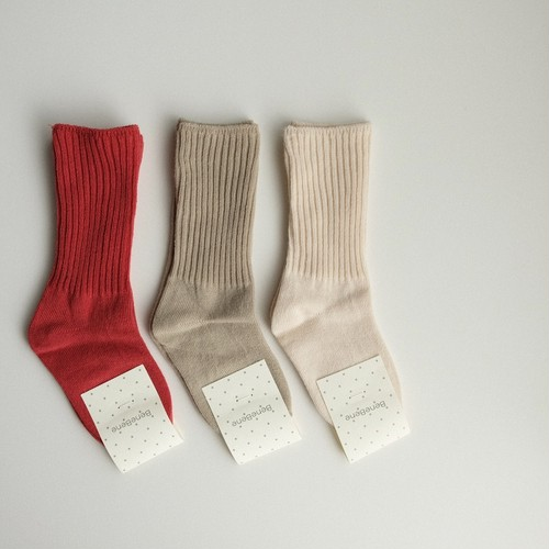 benebene PALE SOCKS(全3色/12M〜8Tサイズ)