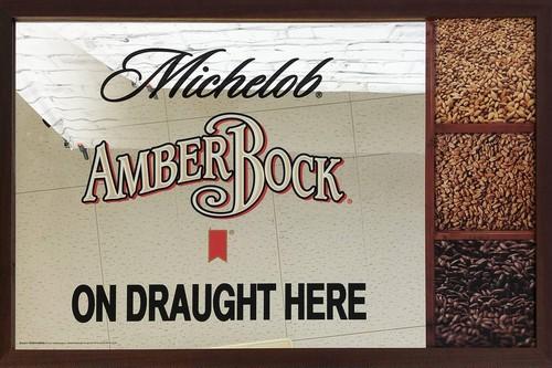 品番0316 パブミラー 『Michelob AMBERBOCK(ミケロブ アンバーボック)』 壁掛 アート ディスプレイ 011