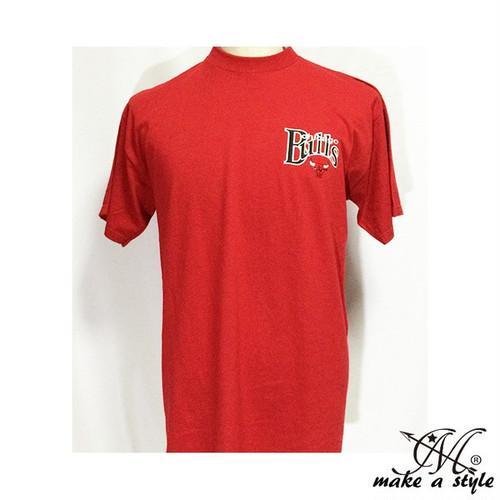 4 シカゴブルズ CHICAGO BULLS 半袖 TEE 赤 Tシャツ 刺繍 NBA マイケル ジョーダン