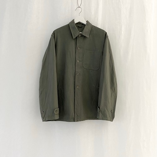 U.S.S.R.(C.C.C.P.) 70s vintage military cotton herringbone twill work jacket
