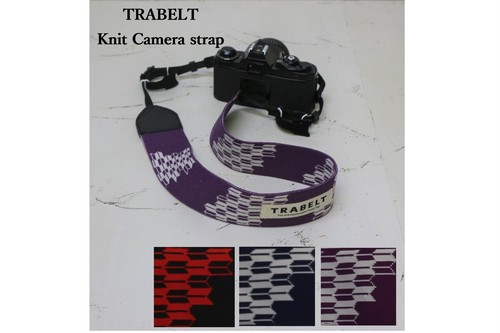 TRABELT≪着せ替え用≫着せ替え可能なKnitカメラストラップ 【Yagasuri】