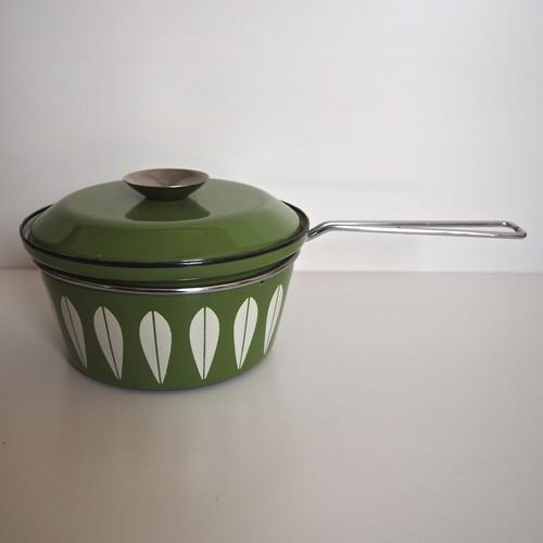 キャサリンホルム 片手鍋 緑