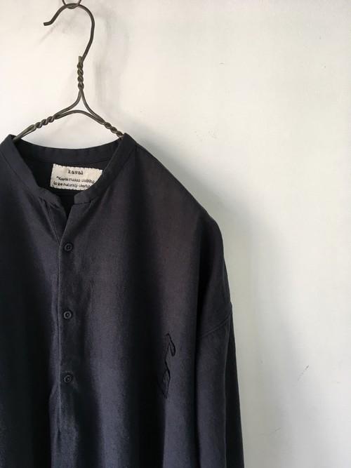 "kaval / simple pullover shirt ""6""(カヴァルのカディコットンを使用したプルオーバーシャツ)/dark navy(期間限定販売)"