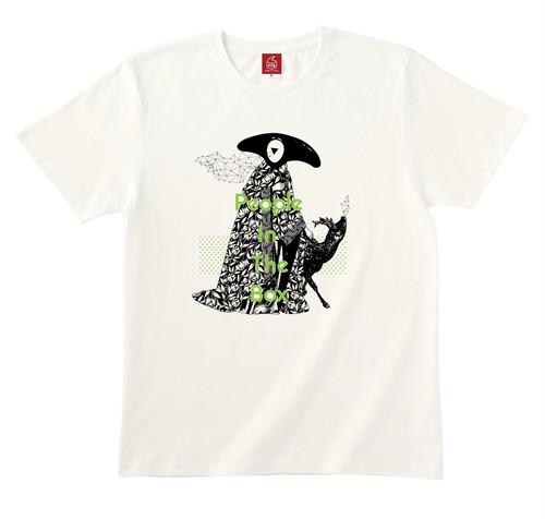 謎・幾何学・子鹿 Tシャツ (ナチュラル)