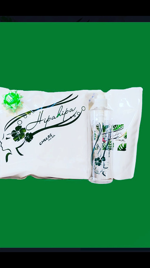 Hipa hipa shampoo 500ml + 専用詰め替えボトル(300ml)スターターセット