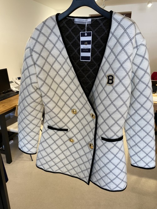 BORDERS at BALCONY KNIT QUILTED JACKET