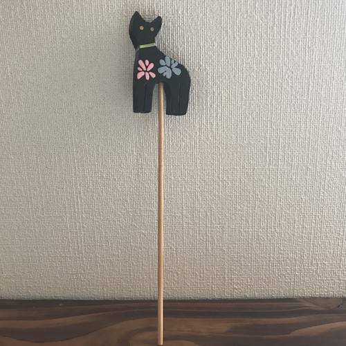 ガーデニング用ピック(猫)