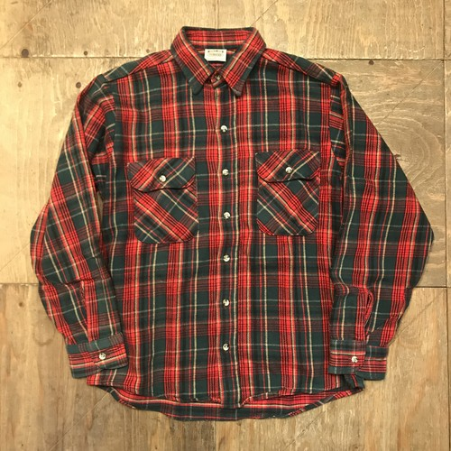 "90s FIVEBROTHER Flannel ""Red""UT-1093"