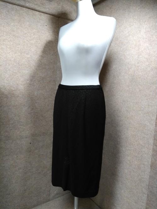 伊太利屋 スカート バラ装飾 9号 黒 1226a