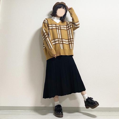 knit skirt《N-26》