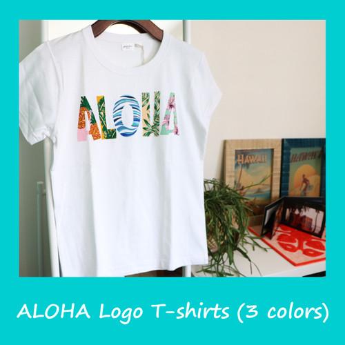【ラスト1枚!】ALOHA ロゴ Tシャツ(3色)