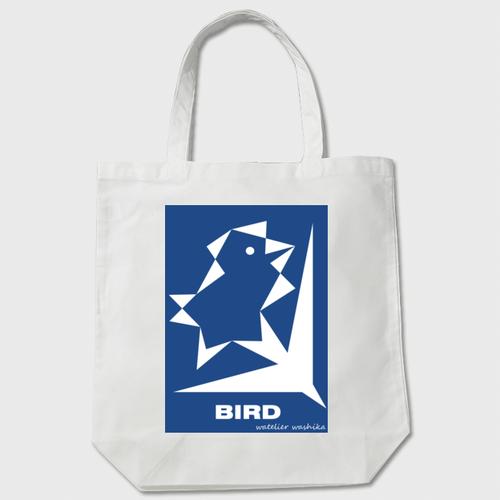 birdblue わしかオリジナルトート(白orベージュ)※送料無料