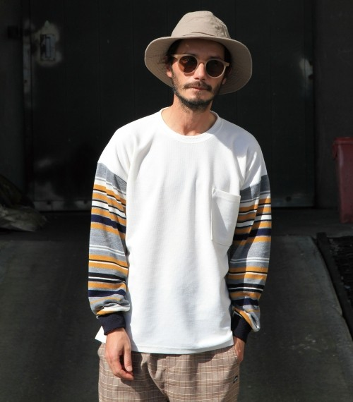 quolt《BORDER-SLEEVE KNIT》