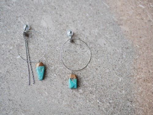 turquois hoop earrings/silver