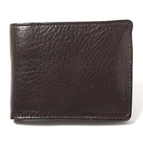 【牛革】ブル使用2つ折財布<2色展開> W4345